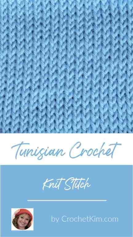 Tunisian Knit Stitch CrochetKim Crochet Stitch Tutorial