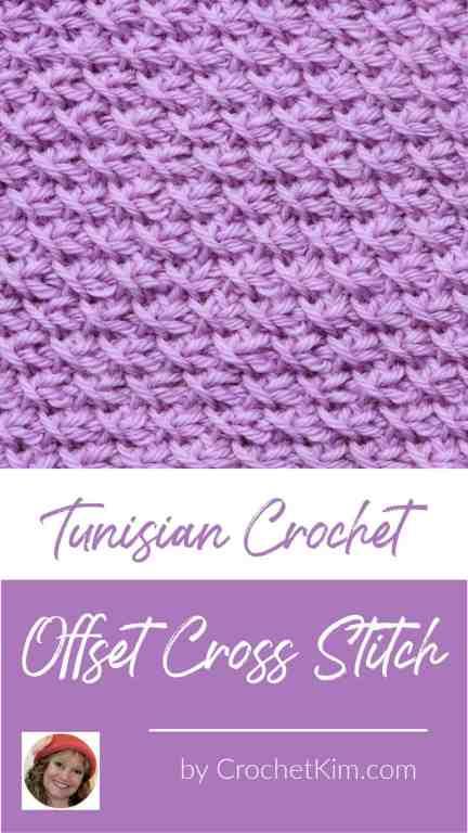 Tunisian Offset Cross Stitch CrochetKim Crochet Stitch Tutorial