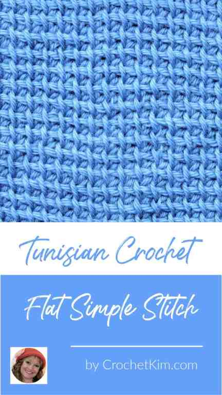 Tunisian Flat Simple Stitch fka Modified Simple Stitch CrochetKim Crochet Stitch Tutorial
