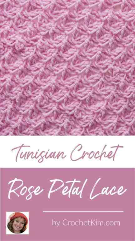 Tunisian Rose Petal Lace CrochetKim Crochet Stitch Tutorial