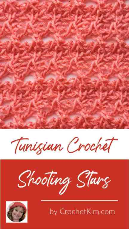 Tunisian Shooting Stars CrochetKim Crochet Stitch Tutorial