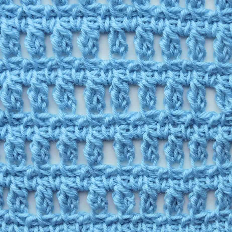 Tunisian Aligned Clusters CrochetKim Crochet Stitch Tutorial