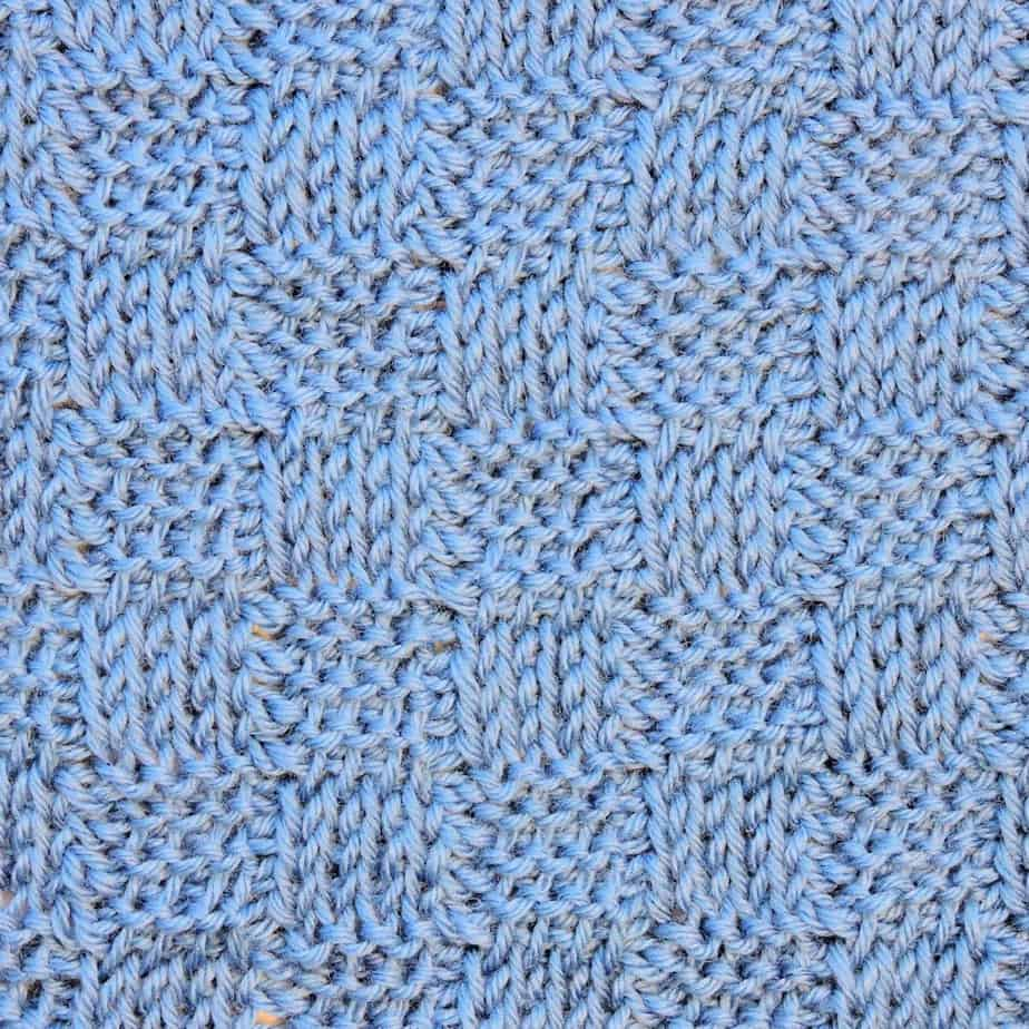 Tunisian Basketweave Ver. 1 Knit and Purl CrochetKim Crochet Stitch Pattern