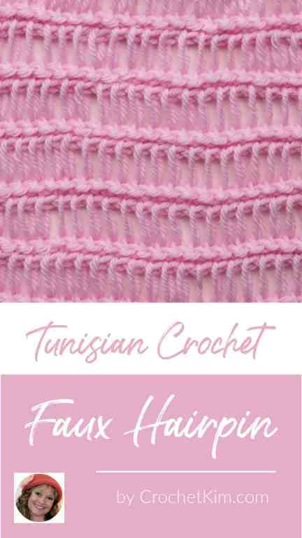 Tunisian Faux Hairpin Lace CrochetKim Crochet Stitch Tutorial