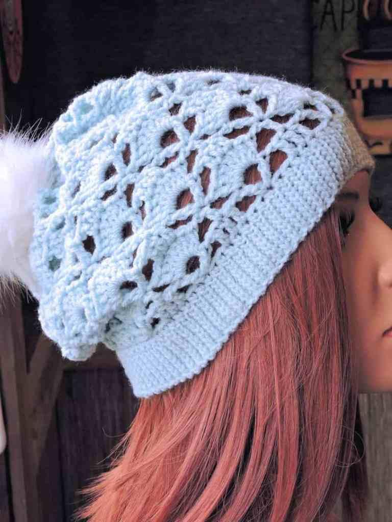 Skyline Snapdragon Slouchy Beanie CrochetKim -Free Crochet Pattern