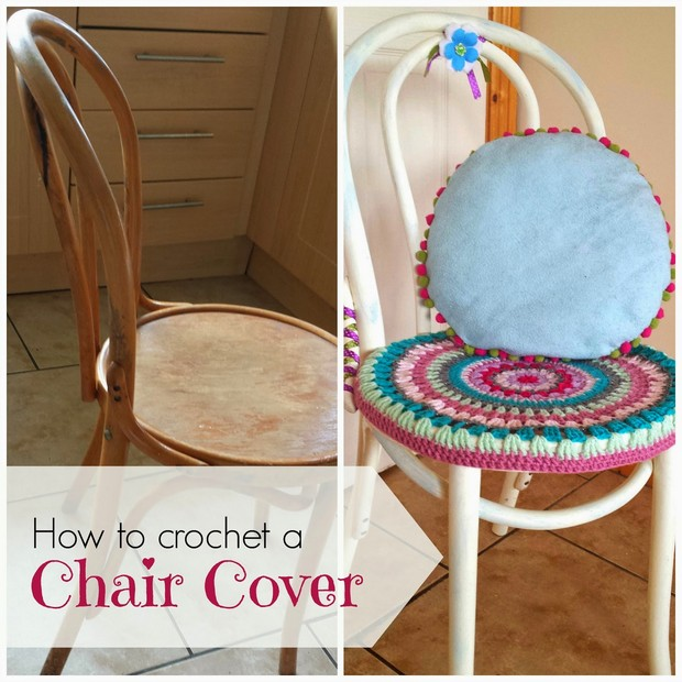 Colorful DIY Crochet Chair Cover  Free Pattern