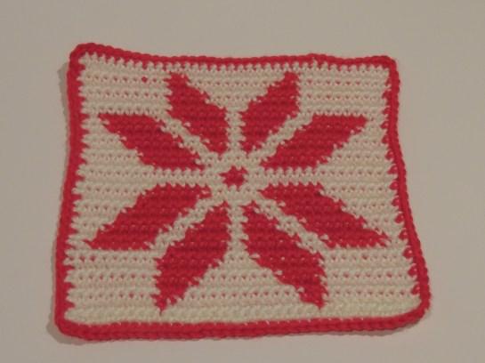 Crocheted Poinsettia Pot Holder