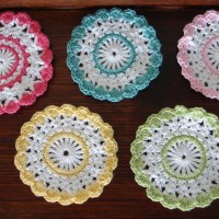 My current project - Sweet Crochet Coasters