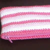 Crochet Missy's Stripey Pencil Cases