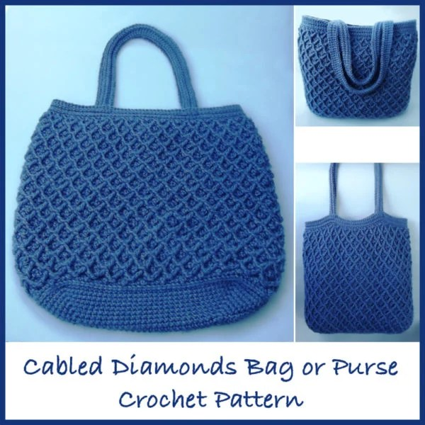 Cabled Diamonds Bag or Purse
