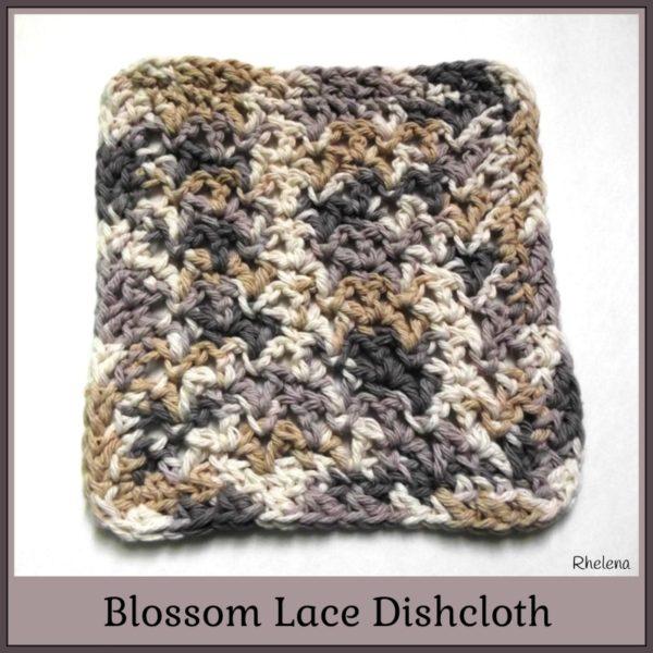 Blossom Lace Dishcloth ~ FREE Crochet Pattern