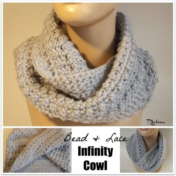 Bead And Lace Infinity Cowl Crochetncrafts