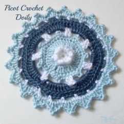 Kitchen Tables Round Viking Outdoor Picot Crochet Doily - Crochetn'crafts