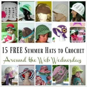 15 Free Summer Hats to Crochet