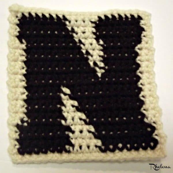 N-Uppercase Tapestry Block ~ FREE Crochet Pattern