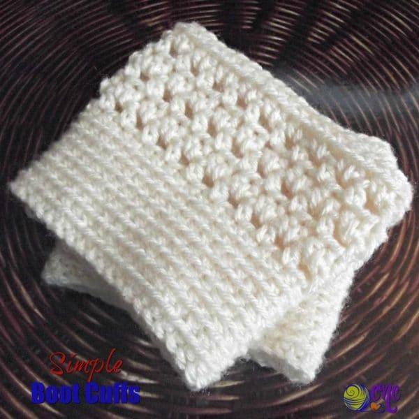 Simple Boot Cuffs - CrochetN\'Crafts