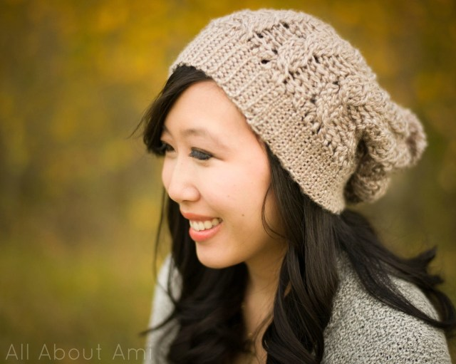 Adult Crochet Beanie Pattern Cabled Slouchy Beanie All About Ami