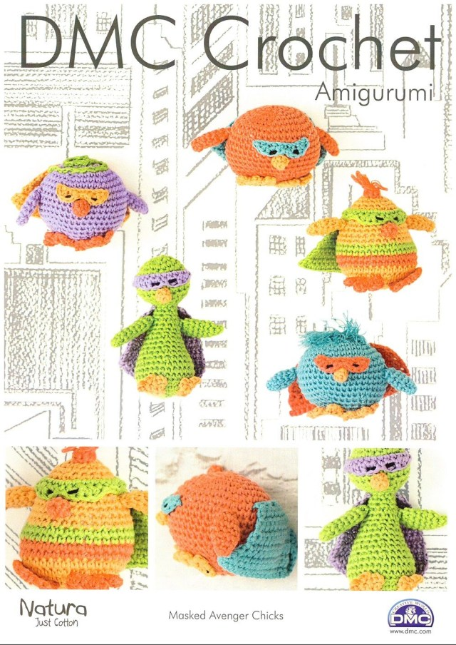 Amigurumi Crochet Patterns Dmc Masked Avenger Chicks Amigurumi Crochet Pattern In Natura