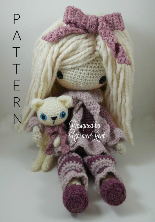 Amigurumi Doll Crochet Pattern February Amigurumi Doll Crochet Pattern Etsy