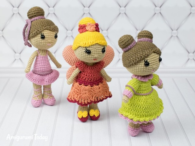 Amigurumi Doll Crochet Pattern Little Lady Doll Crochet Pattern Love To Crochet Pinterest