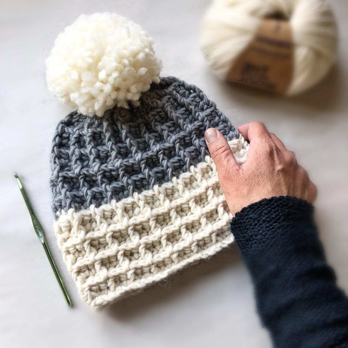 Beanie Pattern Crochet Crochet Pattern Chunky Waffle Stitch Beanie Pattern Crochet Etsy