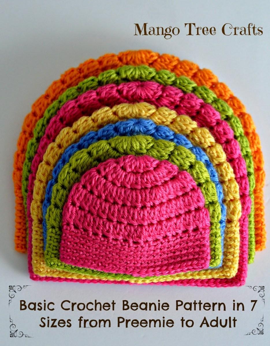 Beanie Pattern Crochet Free Basic Beanie Crochet Pattern All Sizes