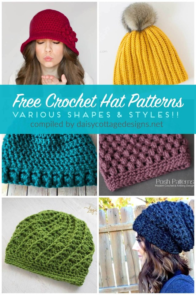 Beanie Pattern Crochet Free Crochet Hat Patterns Daisy Cottage Designs