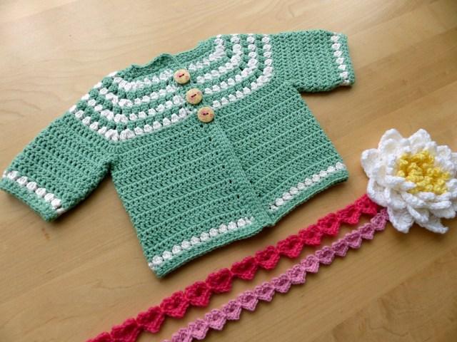 Crochet Baby Sweater Patterns Cluster Yoke Ba Cardigan Make My Day Creative