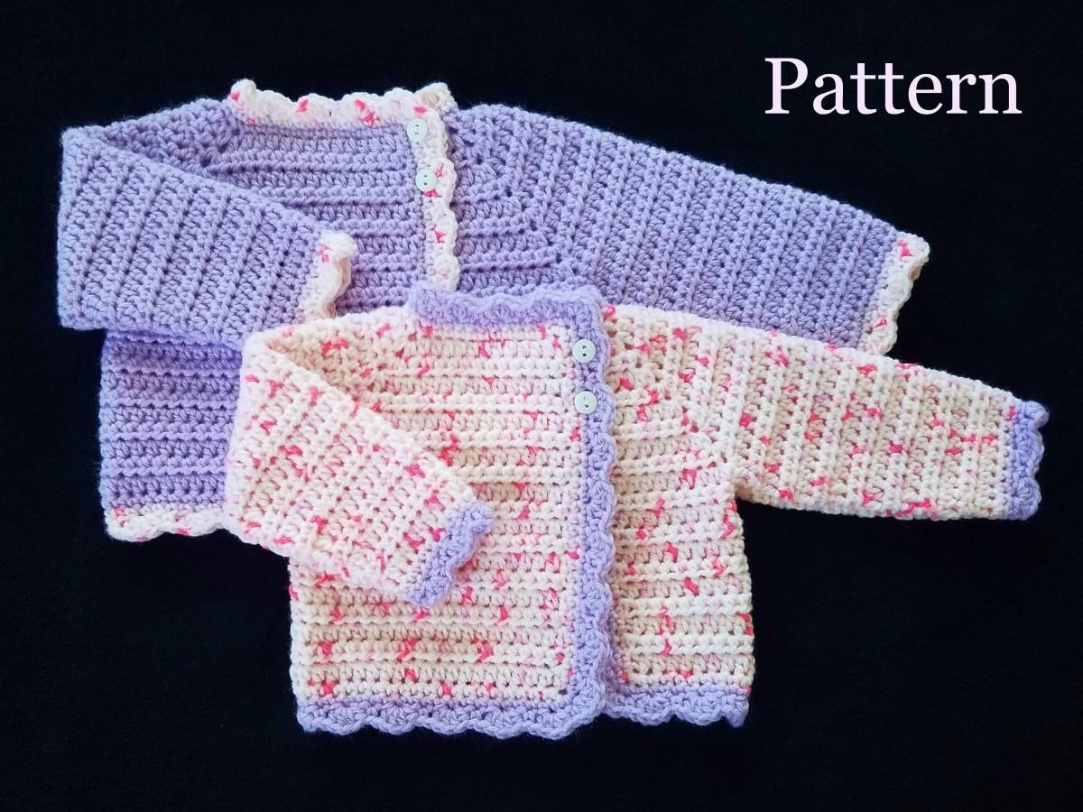 Crochet Baby Sweater Patterns Crochet Pattern Ba Girls Sweater Pattern Sizes 0 12 Etsy