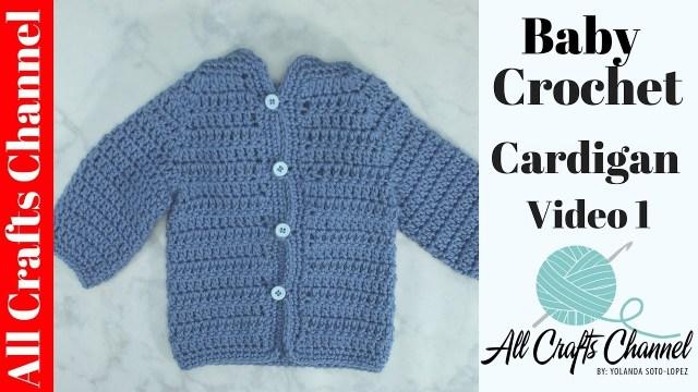 Crochet Baby Sweater Patterns Easy To Crochet Ba Cardigan Crochet Ba Sweater Video 1