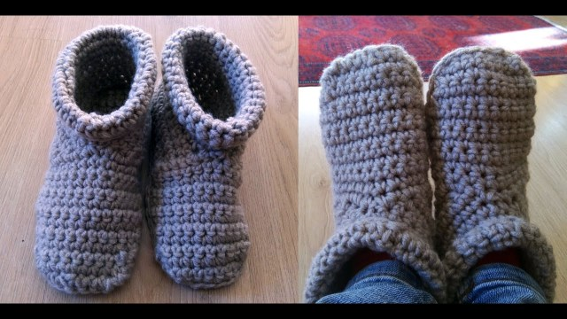 Crochet Boots Pattern For Adults Crochet Slipper Boots Youtube