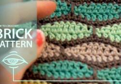 Crochet Brick Stitch Pattern How To Crochet Brick Pattern Youtube