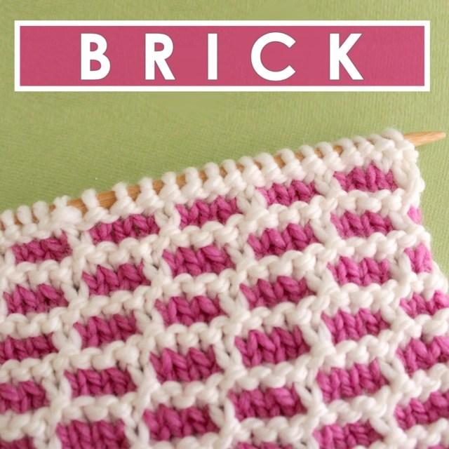 Crochet Brick Stitch Pattern How To Knit The Brick Stitch Pattern With Video Tutorial Studio Knit