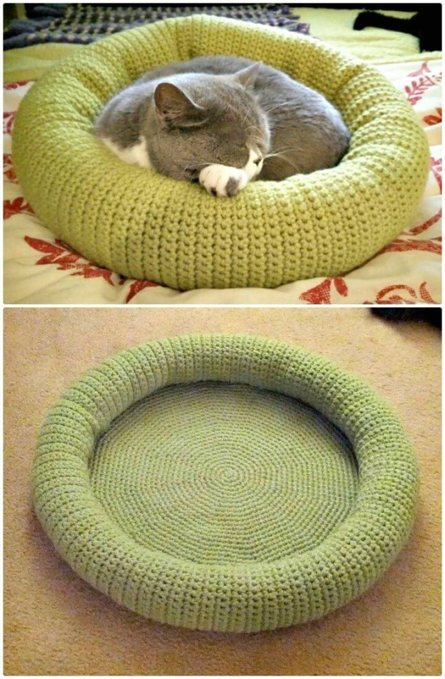 Crochet Cat Bed Pattern Free 20 Free Crochet Cat Bed House Patterns Diy Crafts