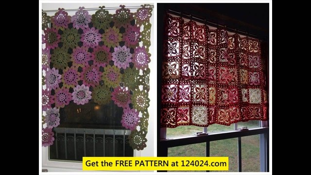 Crochet Curtain Patterns Filet Crochet Curtain Patterns Youtube
