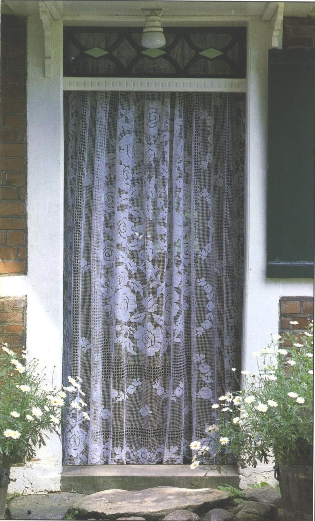 Crochet Curtain Patterns Needle Works Butterfly Filet Crochet Curtains