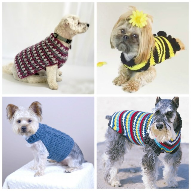Crochet Dog Pattern 12 Crochet Dog Sweater Patterns For Your Fur Babies Cream Of The