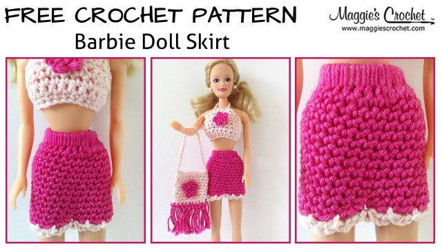Crochet Doll Clothes Patterns Doll Skirt Free Crochet Pattern Right Handed Youtube
