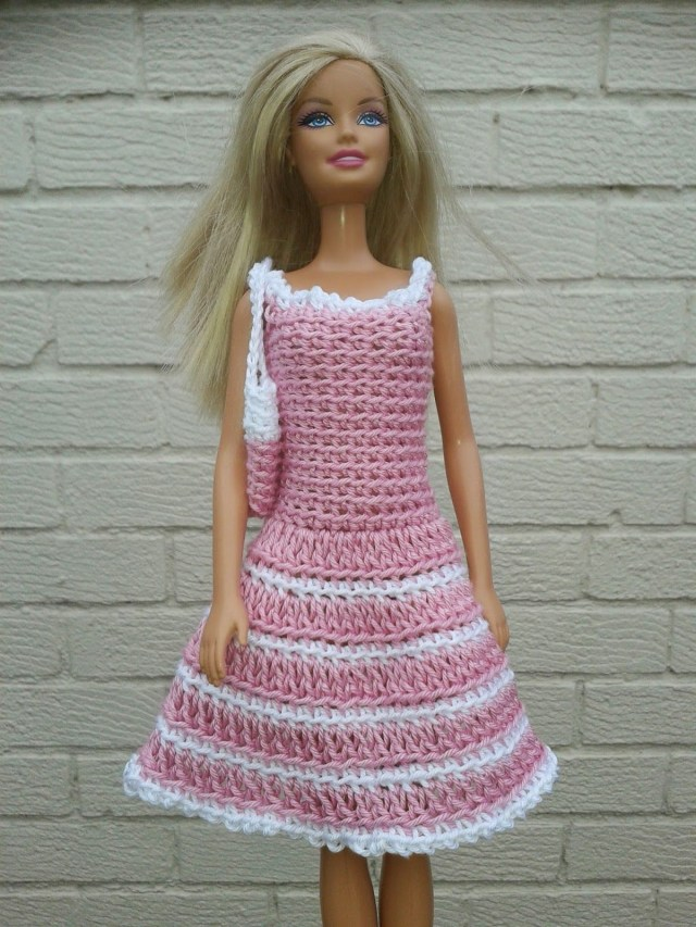 Crochet Doll Clothes Patterns Pretty Crocheted Dresses And Skirts For Summer Crochet Barbie