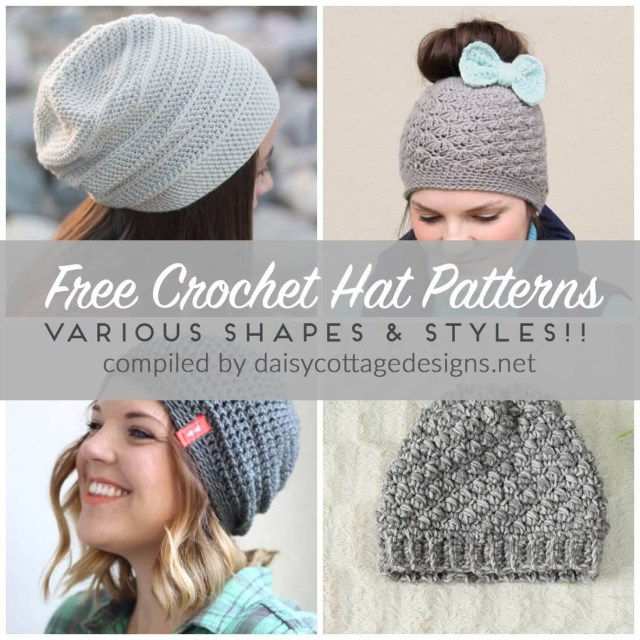 Crochet For Beginners Patterns Free Free Crochet Hat Patterns Daisy Cottage Designs