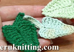 Crochet Leaf Pattern Video Crochet Leaf How To Tutorial 5 Youtube