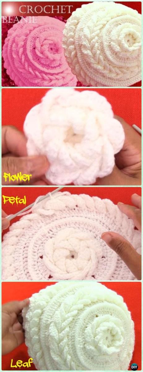 Crochet Leaf Pattern Video Diy Crochet Beanie Hat Free Patterns Ba Winter Hat