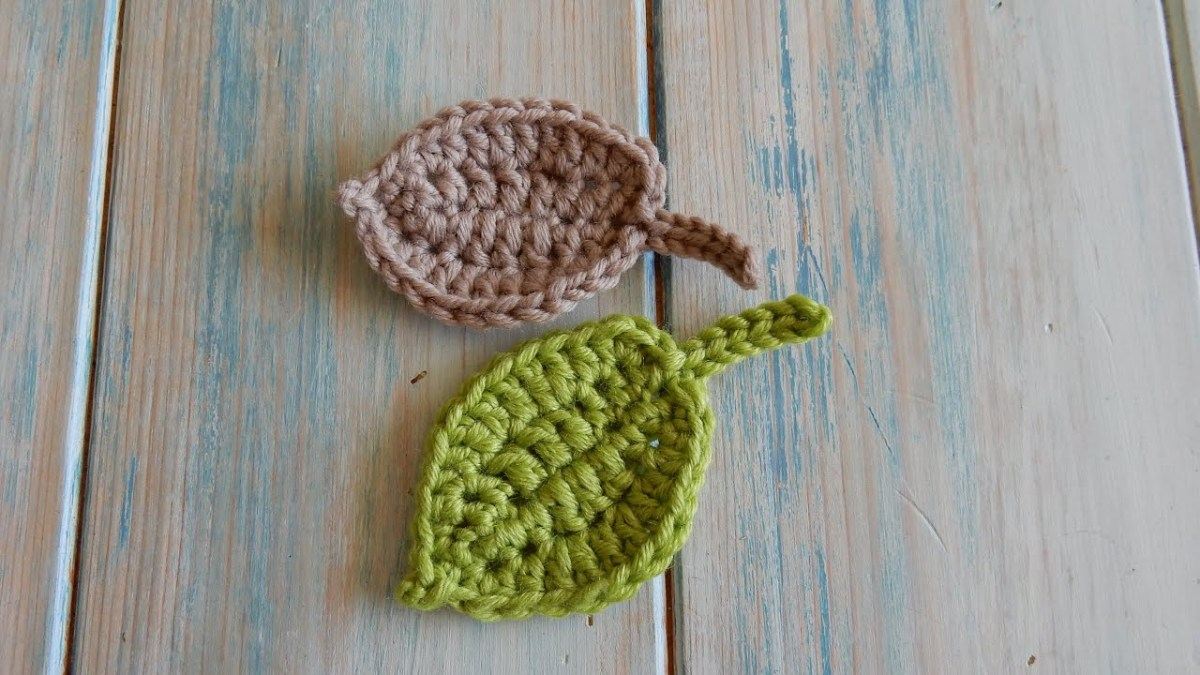 Crochet Leaf Pattern Video How To Crochet A Leaf Version 2 Youtube