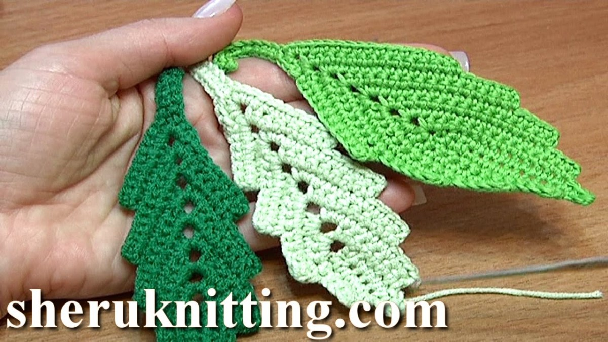 Crochet Leaf Pattern Video How To Crochet Two Side Leaf With Chain Spaces In The Middle