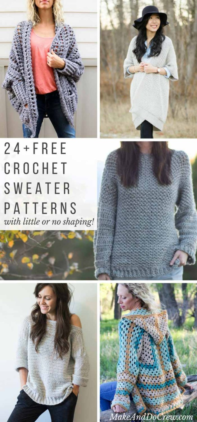 Crochet Long Cardigan Pattern 24 Super Easy Free Crochet Sweater Patterns Make Do Crew