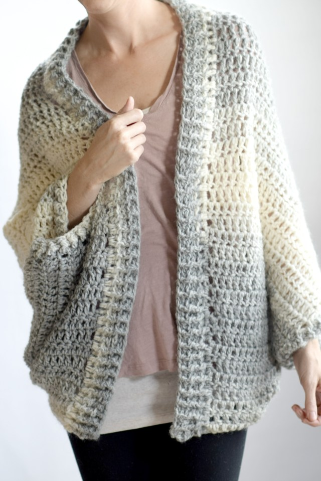 Crochet Long Cardigan Pattern Done In A Day Quick Shrug Crochet Pattern Mama In A Stitch