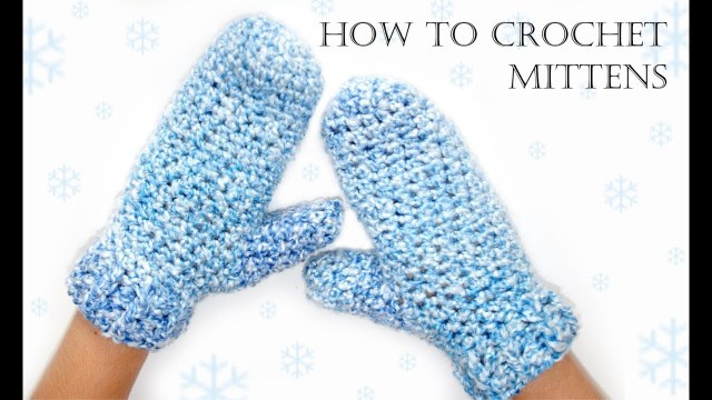 Crochet Mittens Free Pattern How To Crochet Easy Mittens Youtube