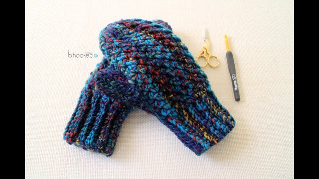 Crochet Mittens Free Pattern How To Crochet Mittens Youtube