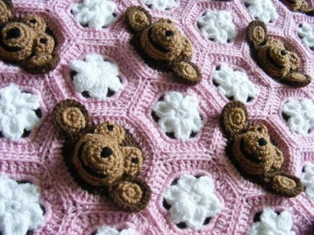 Crochet Monkey Blanket Pattern Ba Girl Crochet Monkey Blanket Pattern Craftsy Crochet