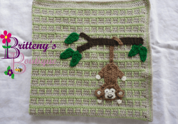 Crochet Monkey Blanket Pattern Britteny Off The Hook Swinging Monkey Ba Blanket Crochet